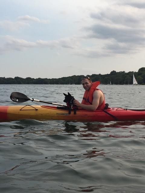 A kayak ride on Lake Harriet in Minneapolis!