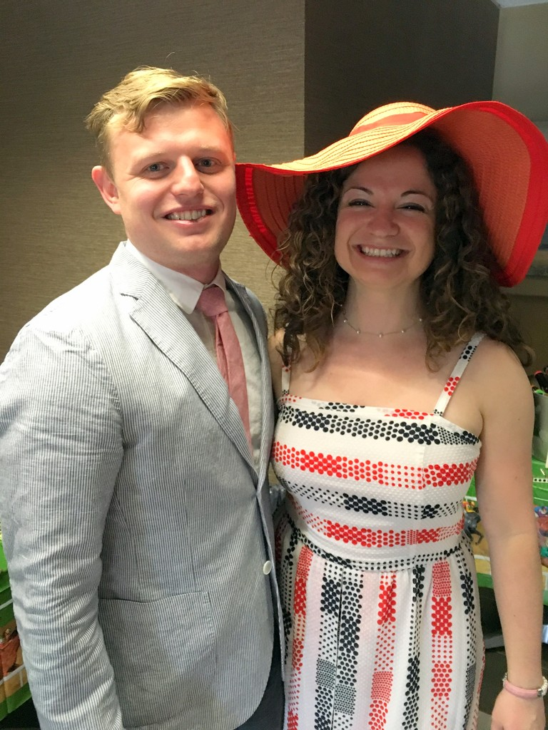 Dolled up for our Derby Party!