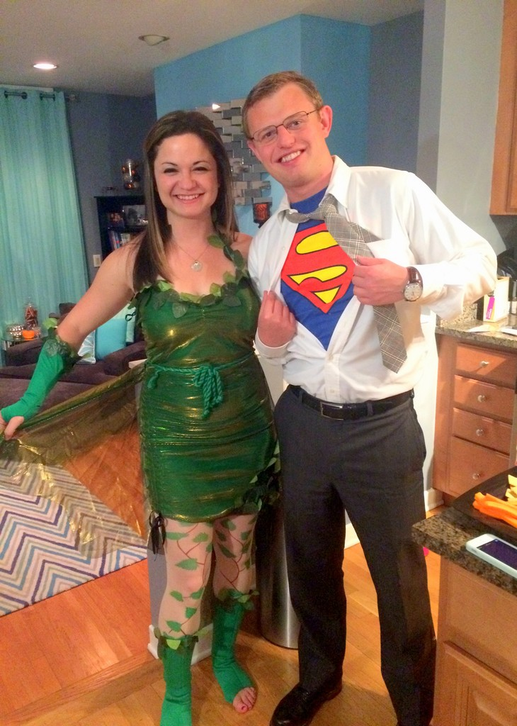 Poison Ivy and Clark Kent