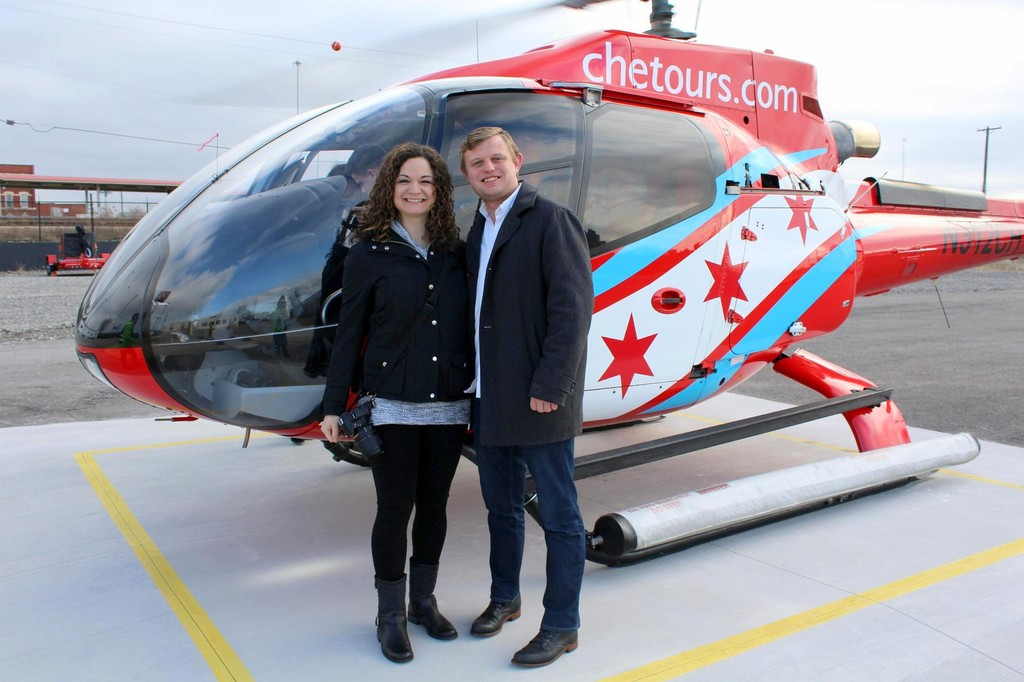 Valentine's Day helicopter ride over Chicago