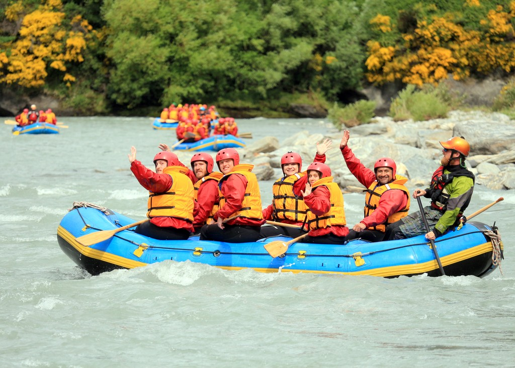 White water rafting in New Zealand for Tim's 30th birthday