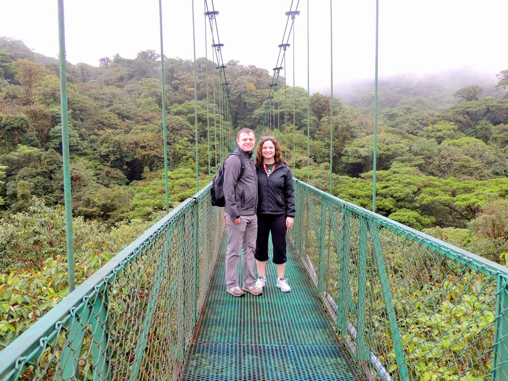 Hiking through the cloud forest in Costa Rica