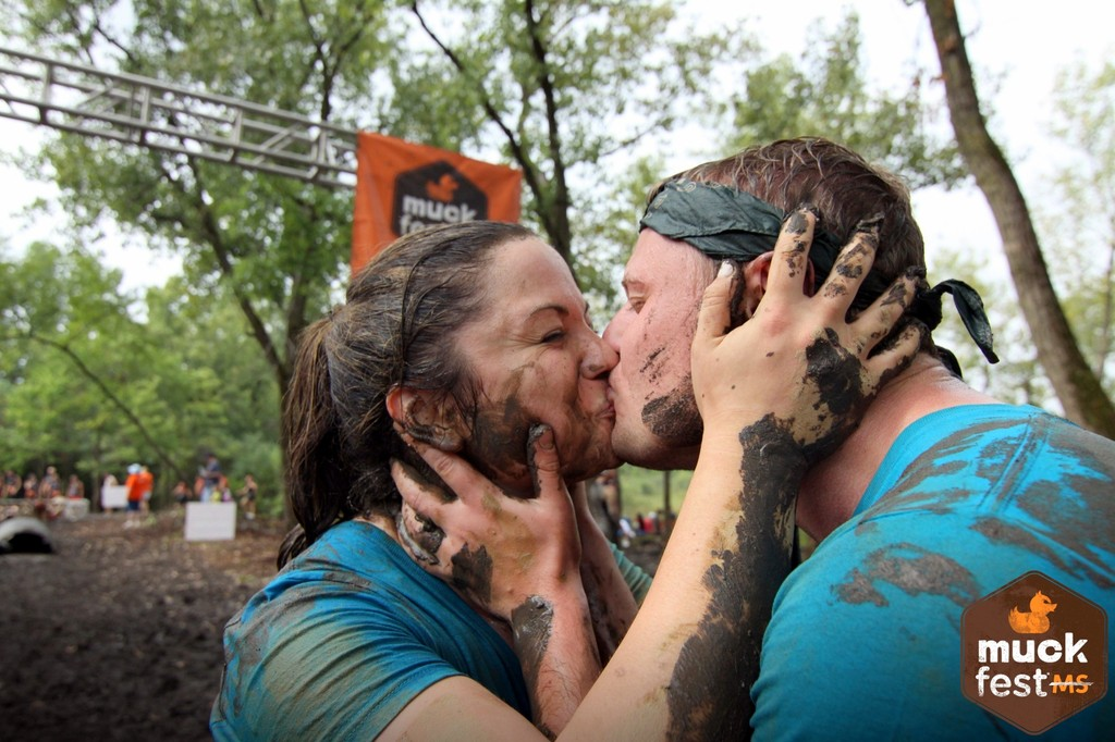 Every year we participate in the MS Muckfest 5K and celebrate with a muddy kiss :)