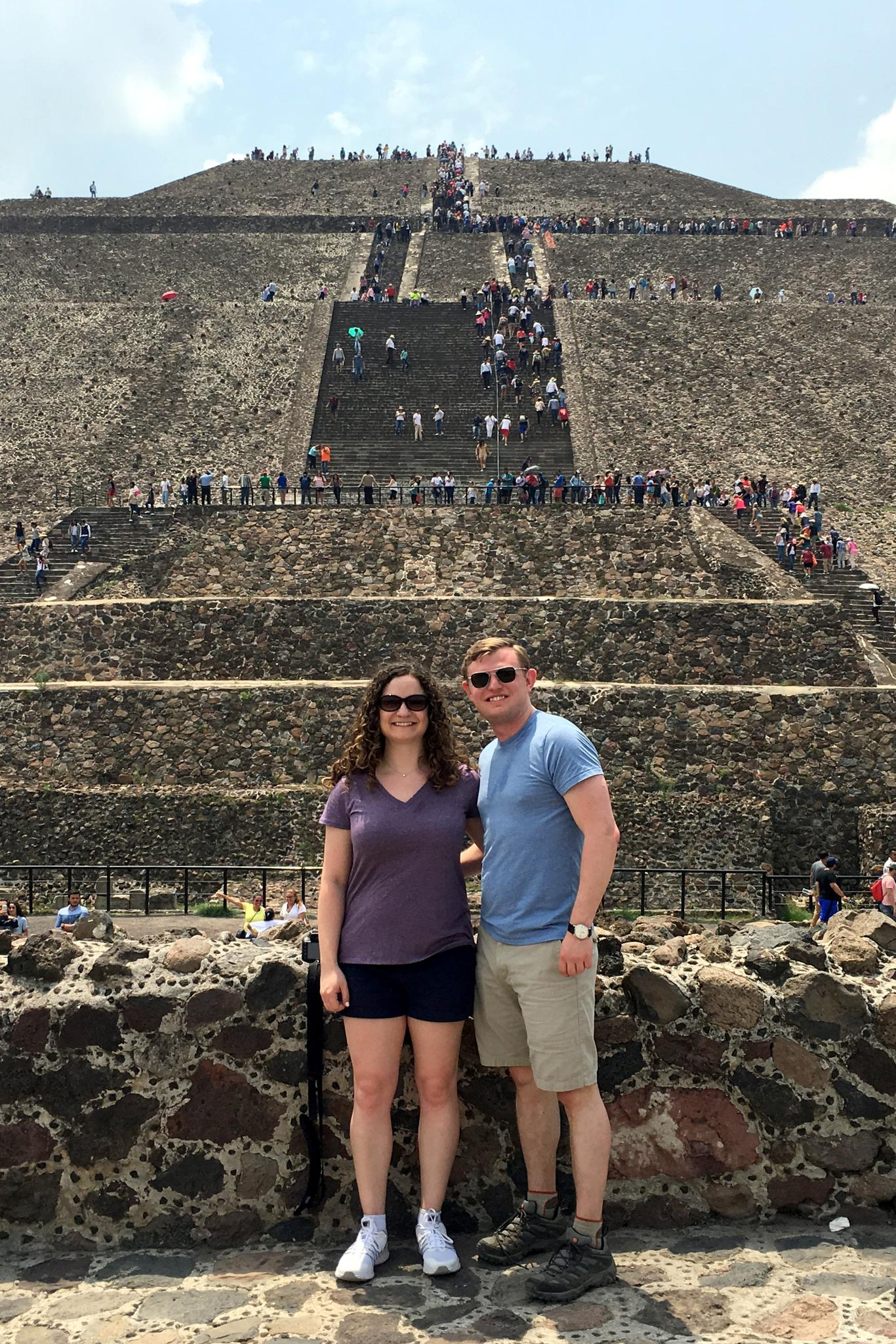 At Teotihuacan outside Mexico City
