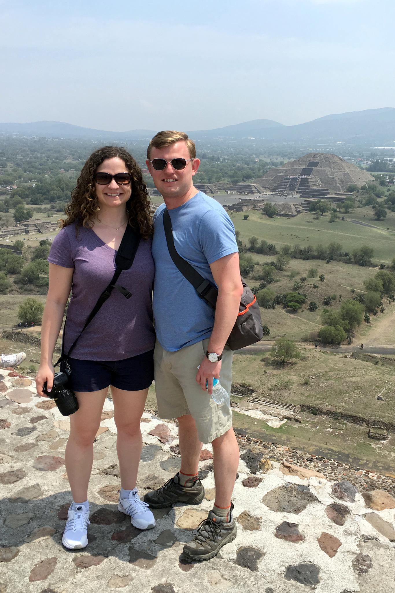 On top of the Pyramid of the Sun