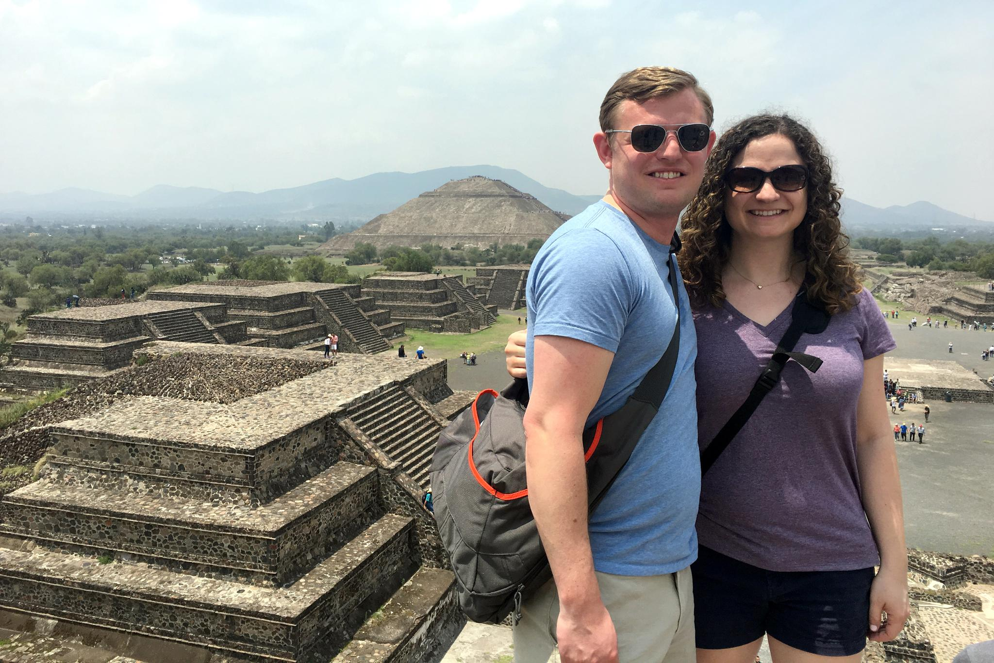 On top of the Pyramid of the Moon
