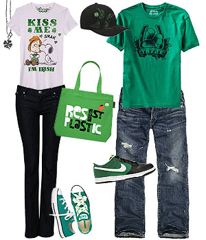 From green clothing to shamrock-inspired accessories, celebrate St. Patrick's Day in style!