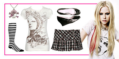 Dress like a punk princess, just like Avril Lavigne!