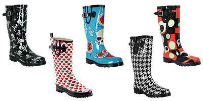 Rain boots come in all sorts of funky colors and patterns!