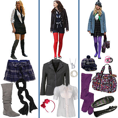 Get the look of the girls from Gossip Girl!