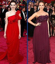 Kidzworld's picks for best dressed are Anne Hathaway and Jessica Alba!
