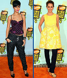 Kidzworld's picks for worst dressed are Rihanna and Jennifer Love Hewitt!