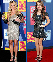 Kidzworld's picks for best dressed are Britney Spears and Miley Cyrus!