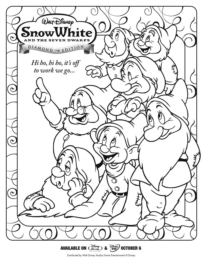 coloring pages of snow whitw - photo#26