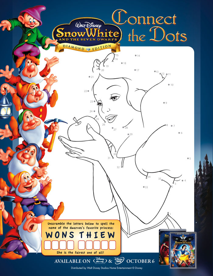 Snow White and the Seven Dwarfs Activity Sheets