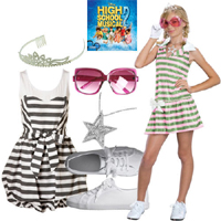 Halloween Costumes Sharpay Dress With Wig 3