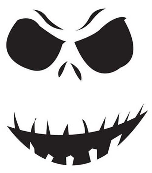 Printable Pumpkin Pattern: Grinning Ghoul | Halloween | Stencil
