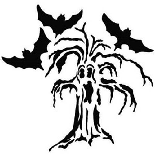 Printable pumpkin pattern terrifying tree halloween