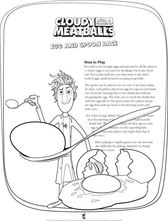 Cloudy With A Chance Of Meatballs 2 Berry Coloring Pages Cloudy