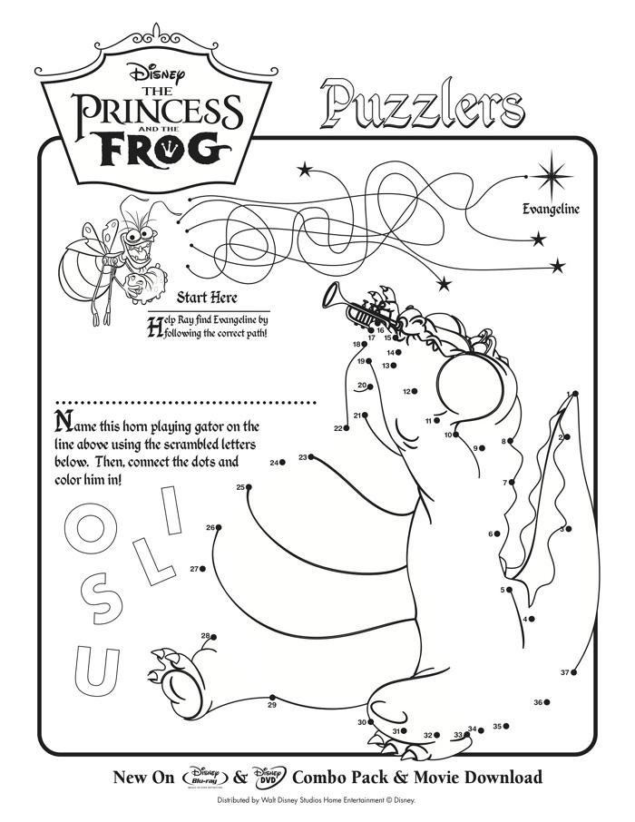 coloring sheets - Disney Princess Activities