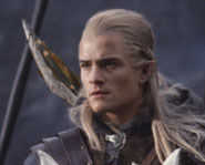 Orlando Bloom is Legolas the Elf, a hero from The Lord of the Rings: The Two Towers and a hottie.