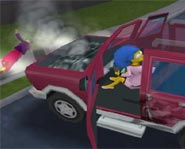 Drive around Springfield on your Xbox with The Simpsons Hit and Run video game!