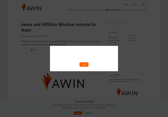 READ: zanox and Affiliate Window rebrand to Awin