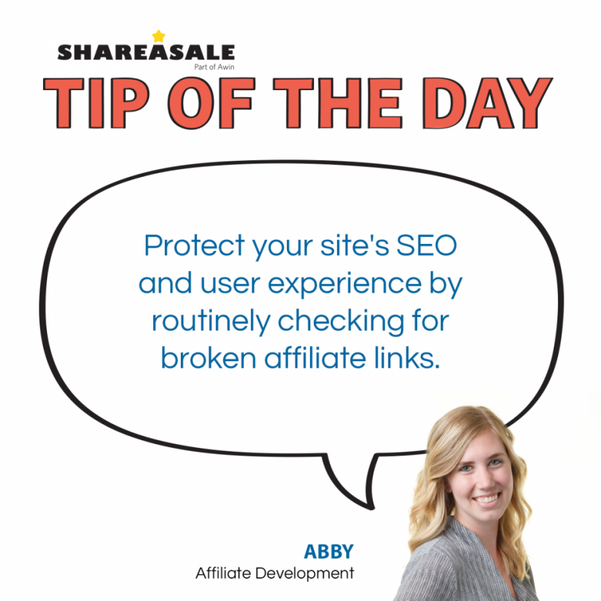 Tip Of The Day: Easily Find Broken Affiliate Links