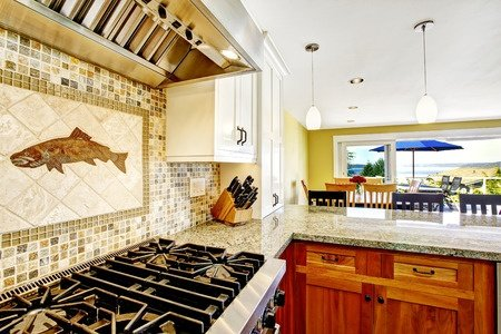 Kitchen Backsplash Border proper backsplash border height in the kitchen |