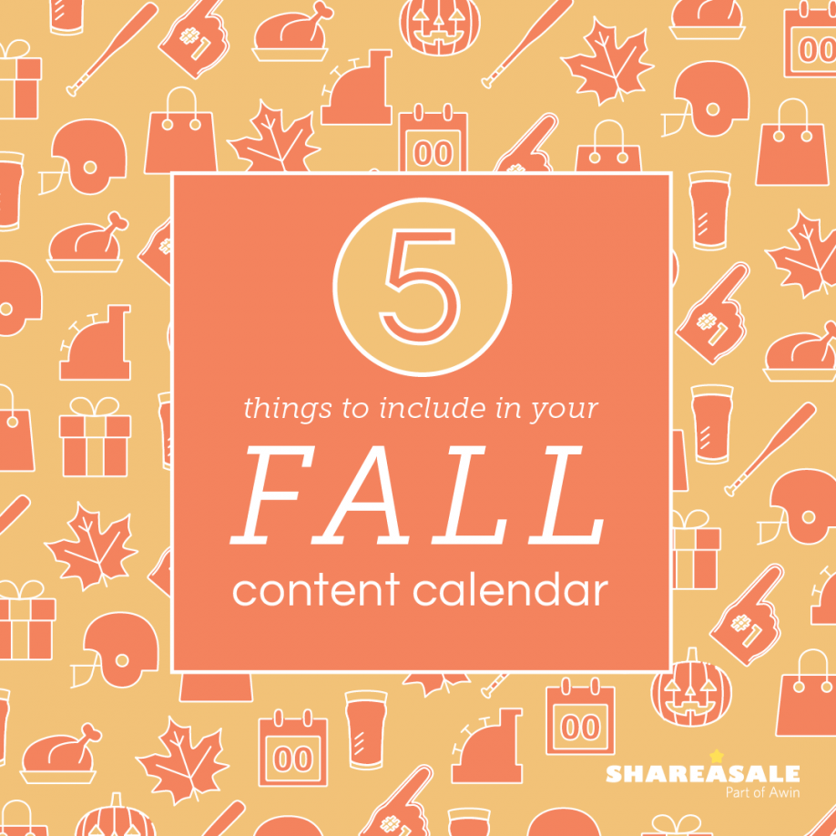 5 Things to Include on Your Fall Content Calendar