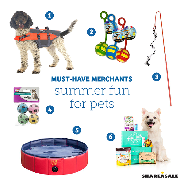 Must-Have-Merchants: Summer Fun For Pets - ShareASale Blog