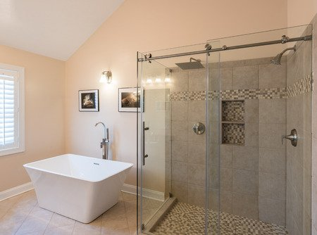 what is the proper height to install a shower border - Bathroom Tiles Height