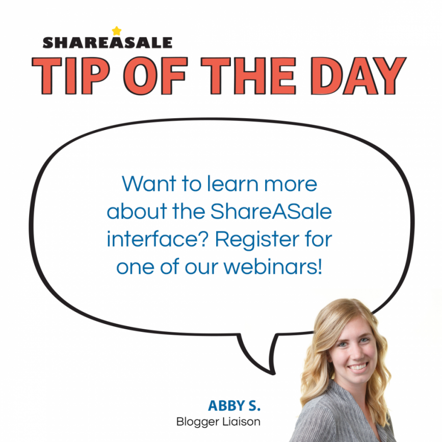 Tip of the Day: Webinars - ShareASale Blog