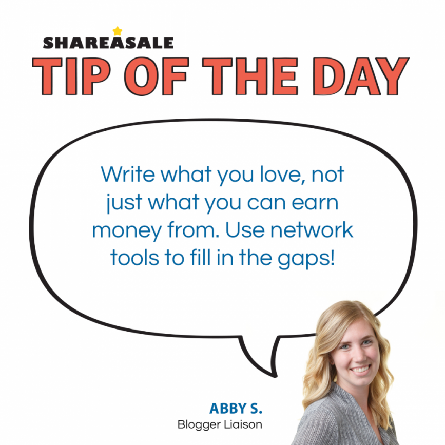 Tip of the Day: Write What You Love, Use Network Tools to Assist!