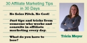 Tricia Meyer Offers 30 Affiliate Marketing Tips in 30 Days
