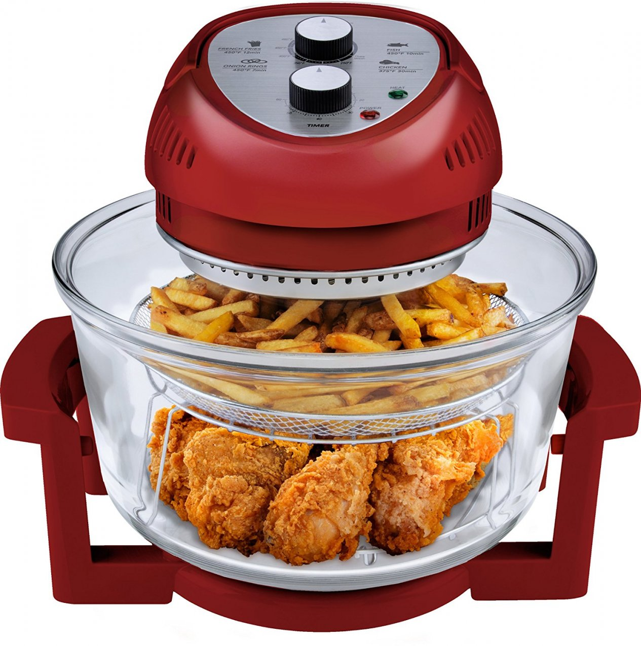 Big Boss 9063 Oil Less Air Fryer in Red