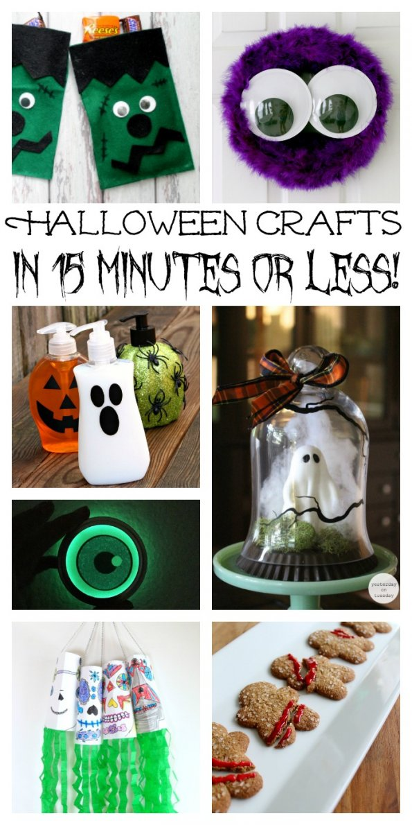 40 Crafts for Halloween in 15 Minutes or Less!