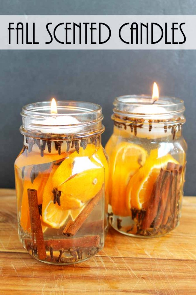 Fall Candles With Fall Scents