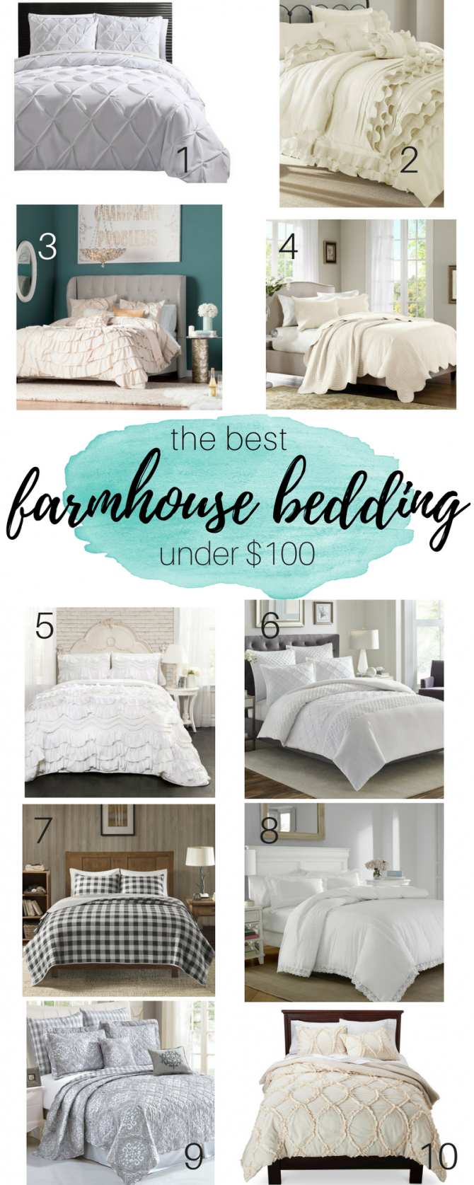 Farmhouse Bedding For under $100