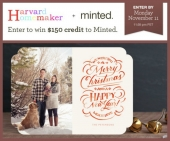 Win $150 to Spend at Minted!  Giveaway Expires 11/12/13.