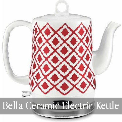 Bella Ceramic Electric Kettle in Red