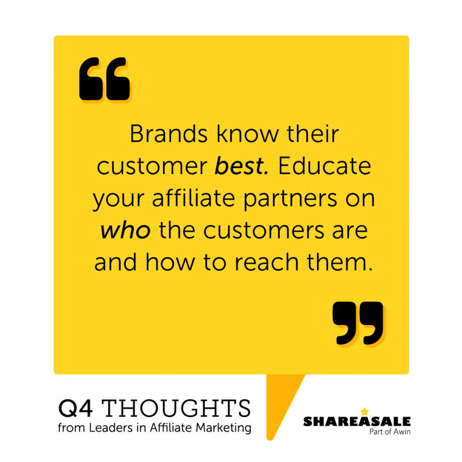 Q4 Thoughts - Educate About Your Customer Base