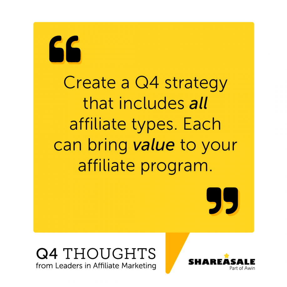 Q4 Thoughts: Create a Q4 Strategy Including All Affiliate Types