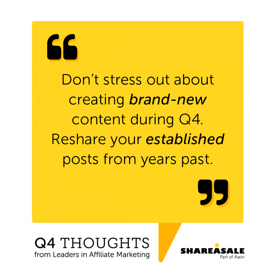 Q4 Thoughts: Reshare Your Established Posts