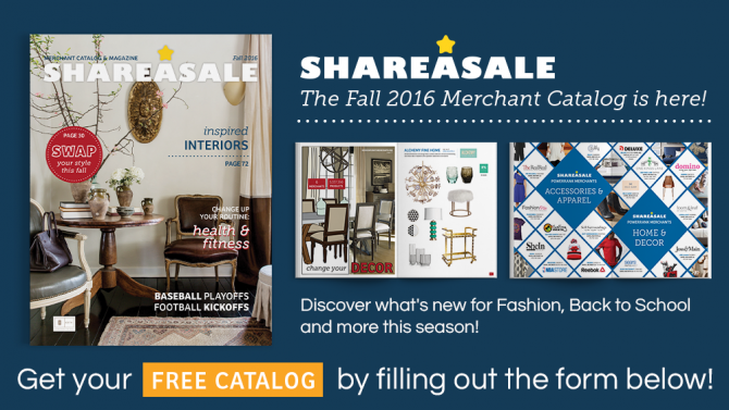 SHAREASALE FALL 2016 CATALOG RELEASED! - ShareASale Blog