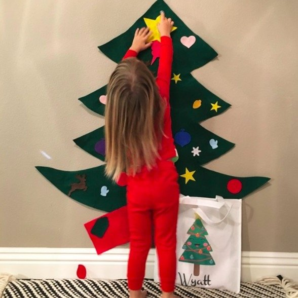 Cheap Kid's Decorative Felt Christmas Tree