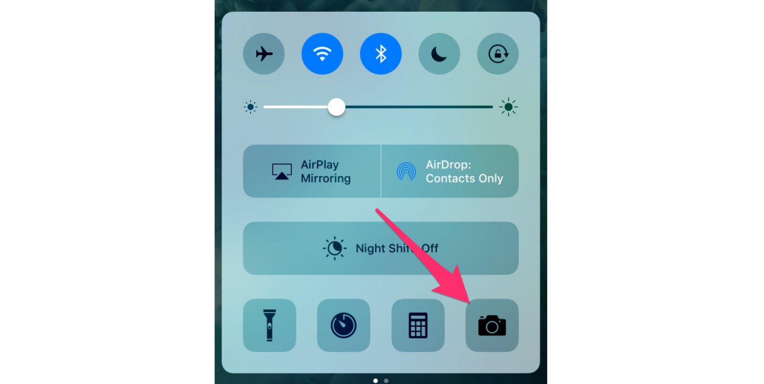Quick Access to the camera in ios 9