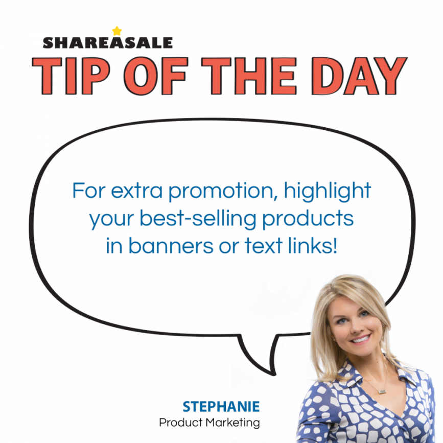 Tip of the Day: Best Selling Products