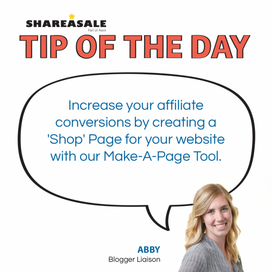 Tip of the Day: Affiliates Create Shop Page