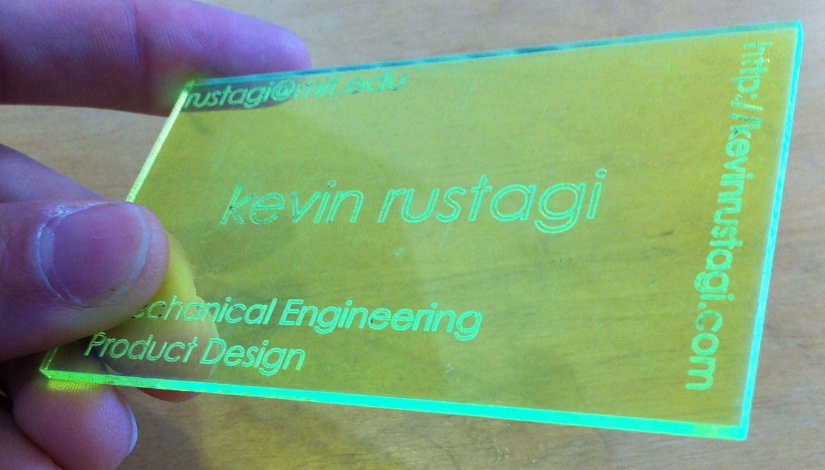 Fluorescent Laser-Cut Card (Jan 2009)